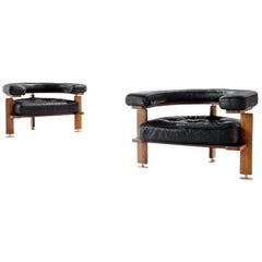 Midcentury Pair of 'Polar' Lounge Chairs by Esko Pajamies, Finland, 1960s