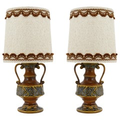 Midcentury Pair of Table Lamps, Germany, Early 1970s