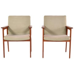 Midcentury Pair of Teak Armchairs by O.D. Møbler, 1960s