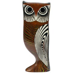 Midcentury Palatnik Op Art Lucite Owl