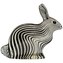 Midcentury Palatnik Op Art Lucite Rabbit Sculpture