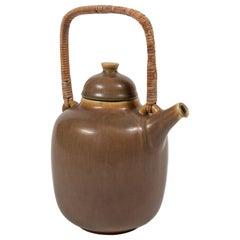 """Midcentury """"Palshus"""" Ceramic Teapot, Denmark"""