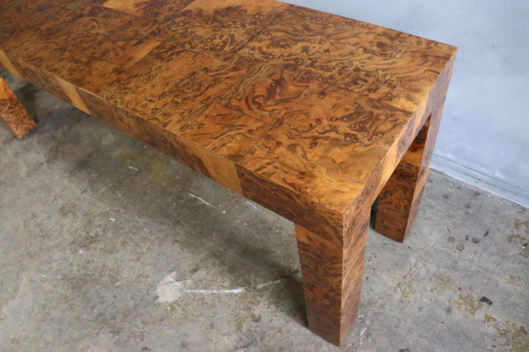 Wood Midcentury Patchwork Table by Paul Evans For Sale