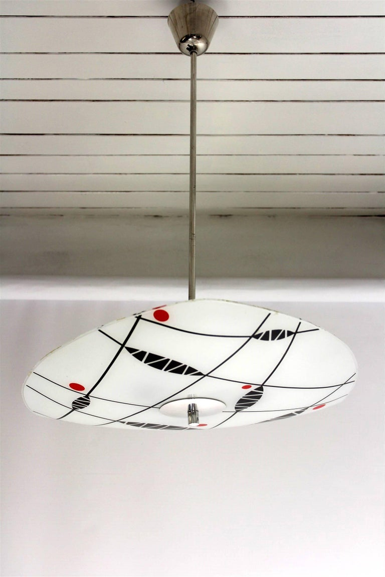 20th Century Midcentury Patterned Ceiling Lamp from Napako, 1960s For Sale