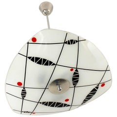 Midcentury Patterned Ceiling Lamp from Napako, 1960s