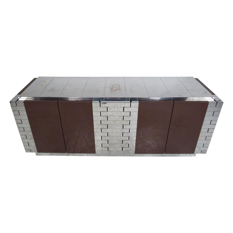 Midcentury Paul Evans Brutalist Sideboard for Directional For Sale
