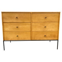 Midcentury Paul McCobb 6 drawer Dresser Credenza #1509 Blonde Maple T Pulls