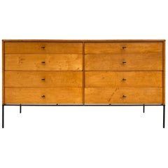 Midcentury Paul McCobb 8-Drawer Dresser Credenza #1507 Maple T Pulls