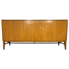Midcentury Paul McCobb Calvin 8-Drawer Dresser Credenza #7306 Travertine Top