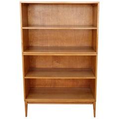 Midcentury Paul McCobb Double Bookcase #1516 Maple on Wood Base