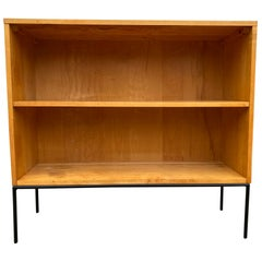 Midcentury Paul McCobb Single Bookcase #1516 Maple Iron Base