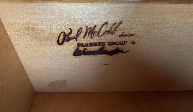 Midcentury Paul McCobb Single Drawer #1500 Nightstands walnut T Pulls For Sale 2