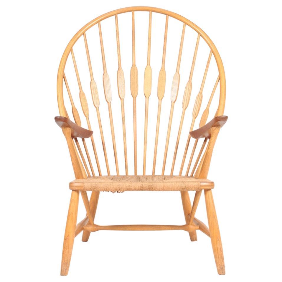Midcentury Peacock Chair by Hans Wegner, 1950s