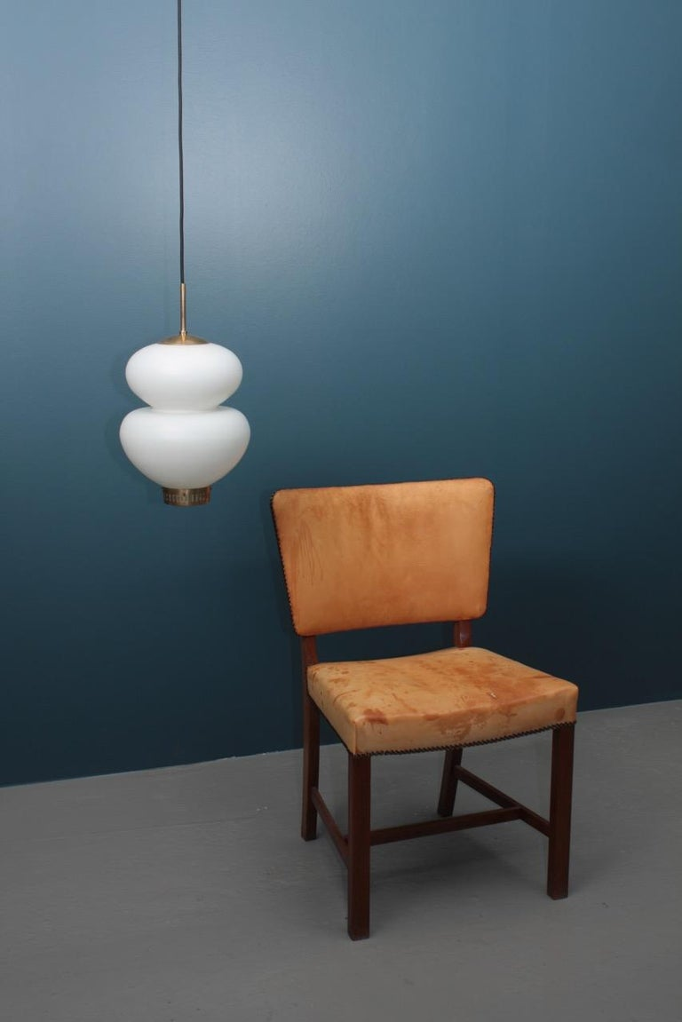Midcentury Peanut Pendant by Bent Karlby, Danish Design, 1950s For Sale 2
