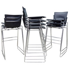 Midcentury Pelle Stacking Stools by ICF