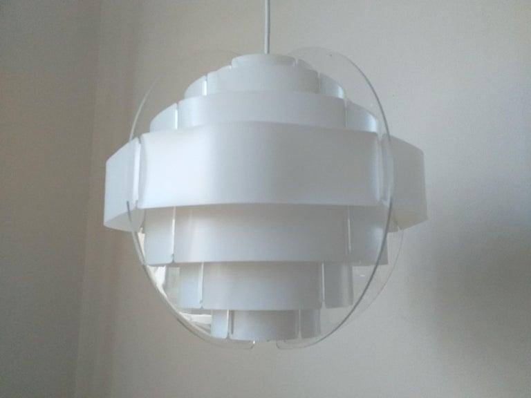 Midcentury Pendant Designed by Preben Jacobsen & Flemming Brylle, Denmark, 1970s For Sale 3