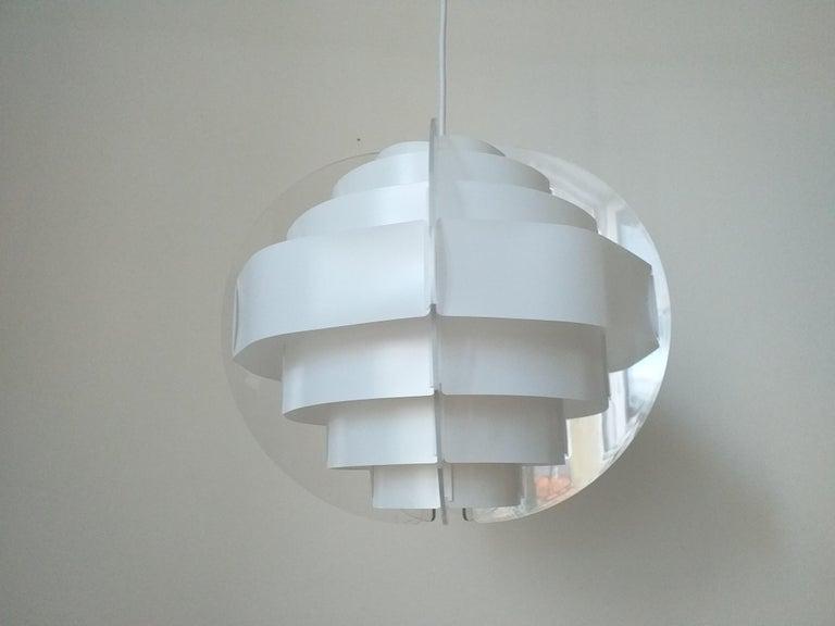 Midcentury Pendant Designed by Preben Jacobsen & Flemming Brylle, Denmark, 1970s For Sale 4