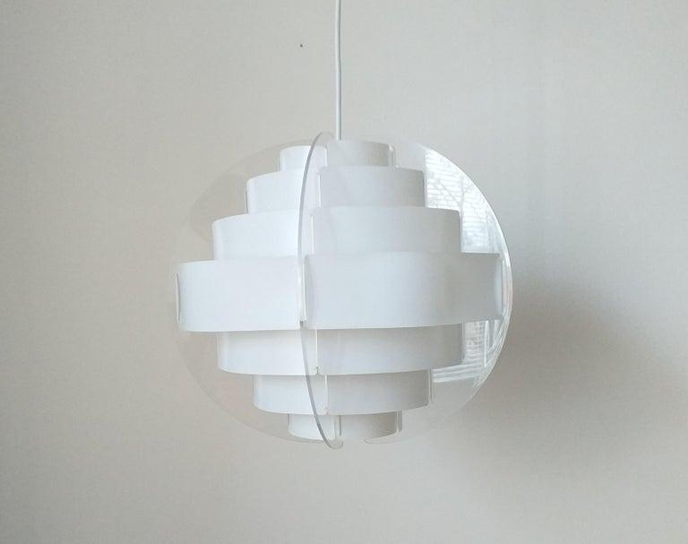 Midcentury Pendant Designed by Preben Jacobsen & Flemming Brylle, Denmark, 1970s For Sale 5