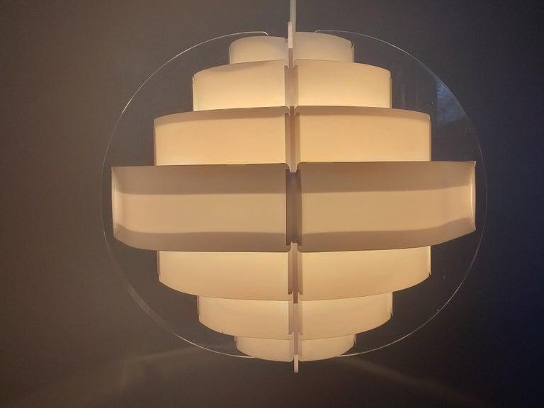 Mid-Century Modern Midcentury Pendant Designed by Preben Jacobsen & Flemming Brylle, Denmark, 1970s For Sale