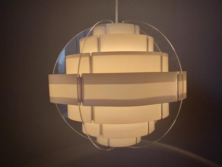 Late 20th Century Midcentury Pendant Designed by Preben Jacobsen & Flemming Brylle, Denmark, 1970s For Sale