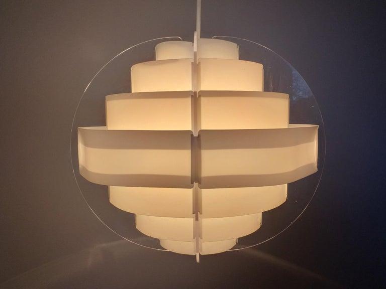 Midcentury Pendant Designed by Preben Jacobsen & Flemming Brylle, Denmark, 1970s For Sale 1
