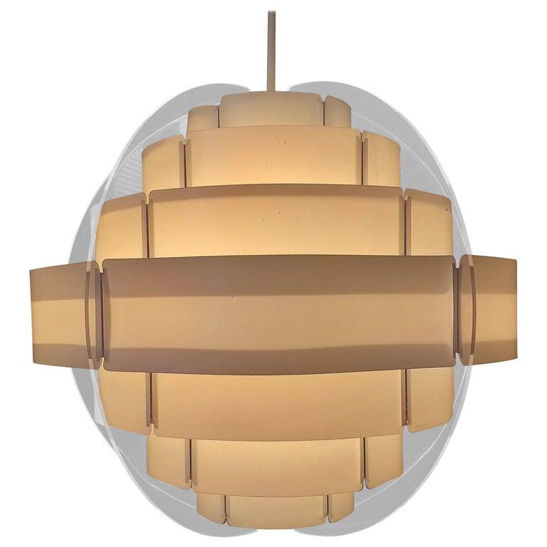 Midcentury Pendant Designed by Preben Jacobsen & Flemming Brylle, Denmark, 1970s For Sale