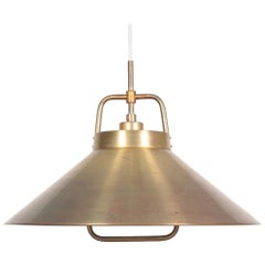 Midcentury Pendant in Brass by Frits Schlegel, Danish Design, 1960s