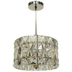 Midcentury Pendant Prism Faceted Crystal Kinkeldey