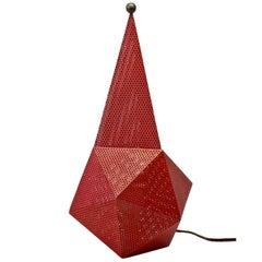 """Midcentury Perforated Metal and Brass """"Baghdad"""" Table Lamp after Mathieu Matégot"""