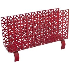 Midcentury Perforated Metal Letter Holder