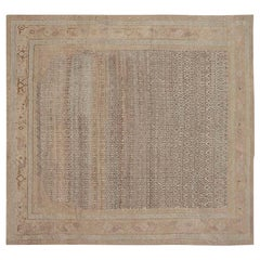 Midcentury Persian Malayer Rug in Brown and Beige 'size adjusted'