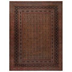 Midcentury Persian Meshad Rug