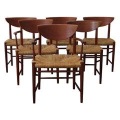 Midcentury Peter Hvidt & Orla Molgaard-Nielsen Teak Dining Chairs, Set of 6