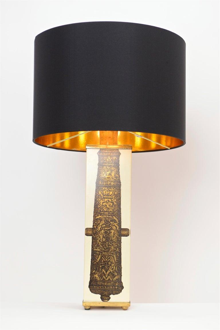 Mid-Century Modern Midcentury Piero Fornasetti 'Canon' Table Lamp, circa 1950 For Sale