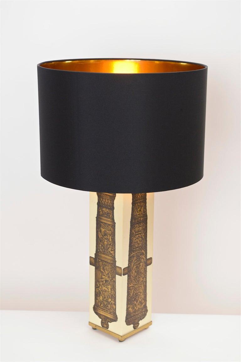 Midcentury Piero Fornasetti 'Canon' Table Lamp, circa 1950 In Good Condition For Sale In London, GB
