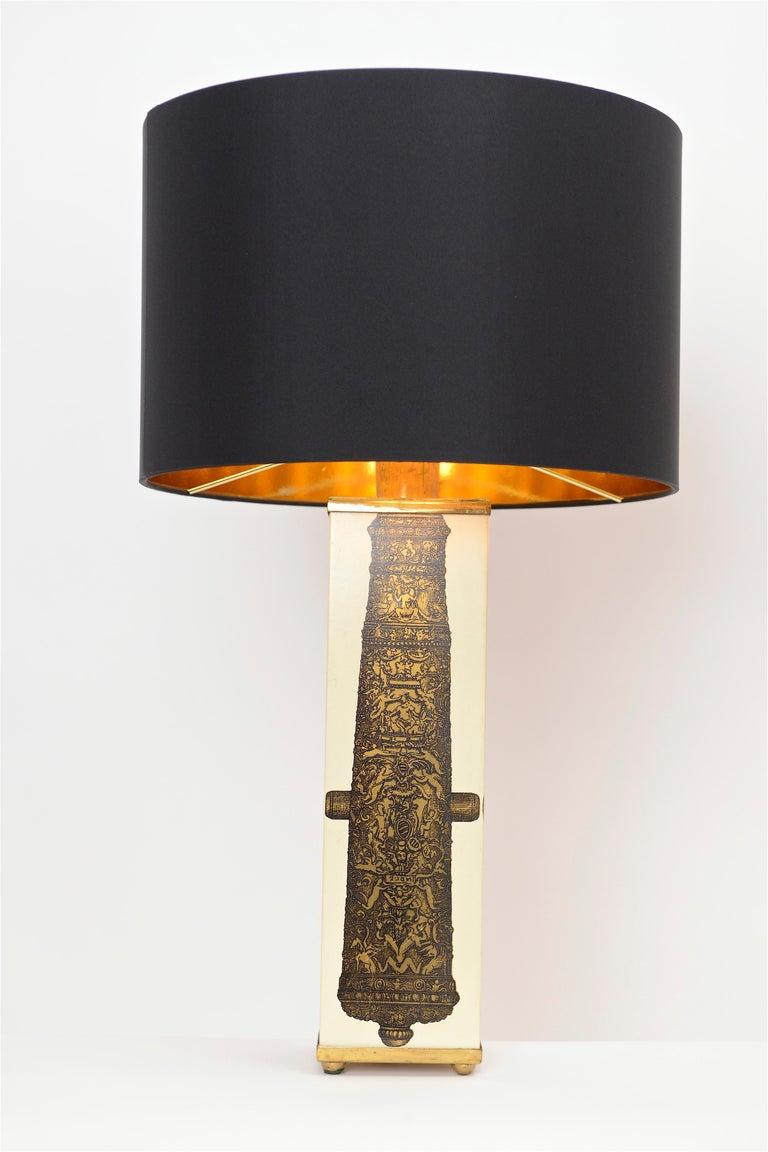 Mid-20th Century Midcentury Piero Fornasetti 'Canon' Table Lamp, circa 1950 For Sale
