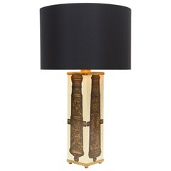Midcentury Piero Fornasetti 'Canon' Table Lamp, circa 1950