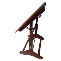 Midcentury Pine Drafting Table Standup Desk