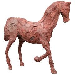 Jahrhundertmitte Gips Figur eines Stattlichen Hufeisens