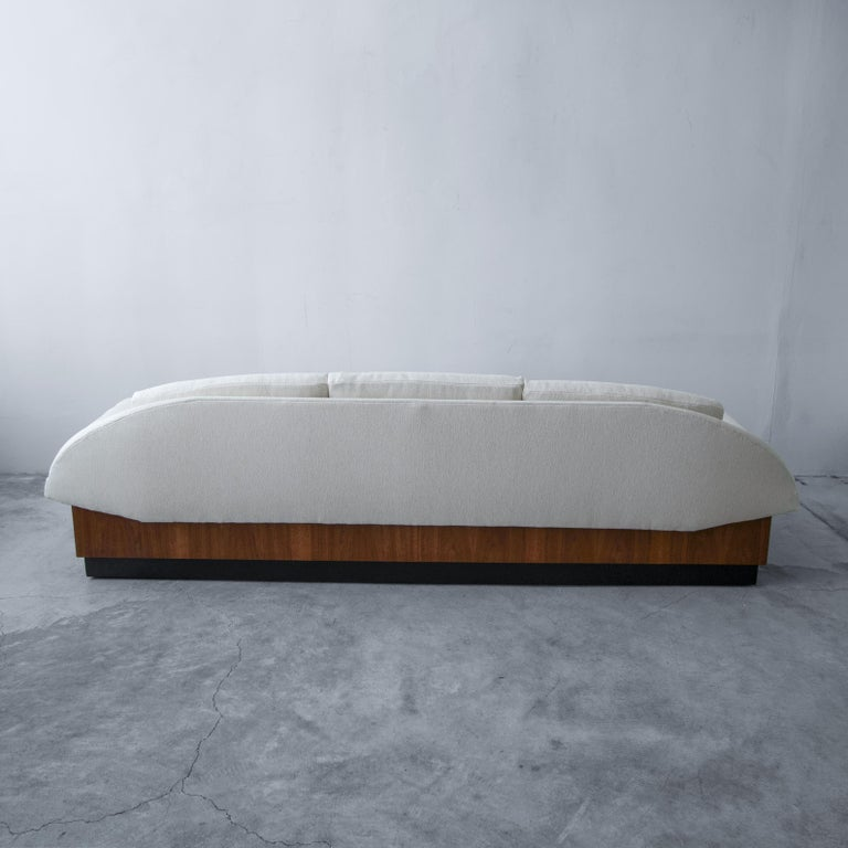 Fabric Midcentury Platform Gondola Sofa by Adrian Pearsall For Sale