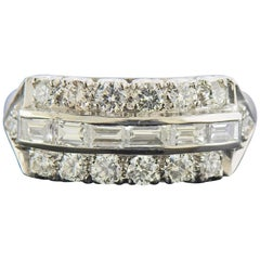 Midcentury Platinum Diamond Ring