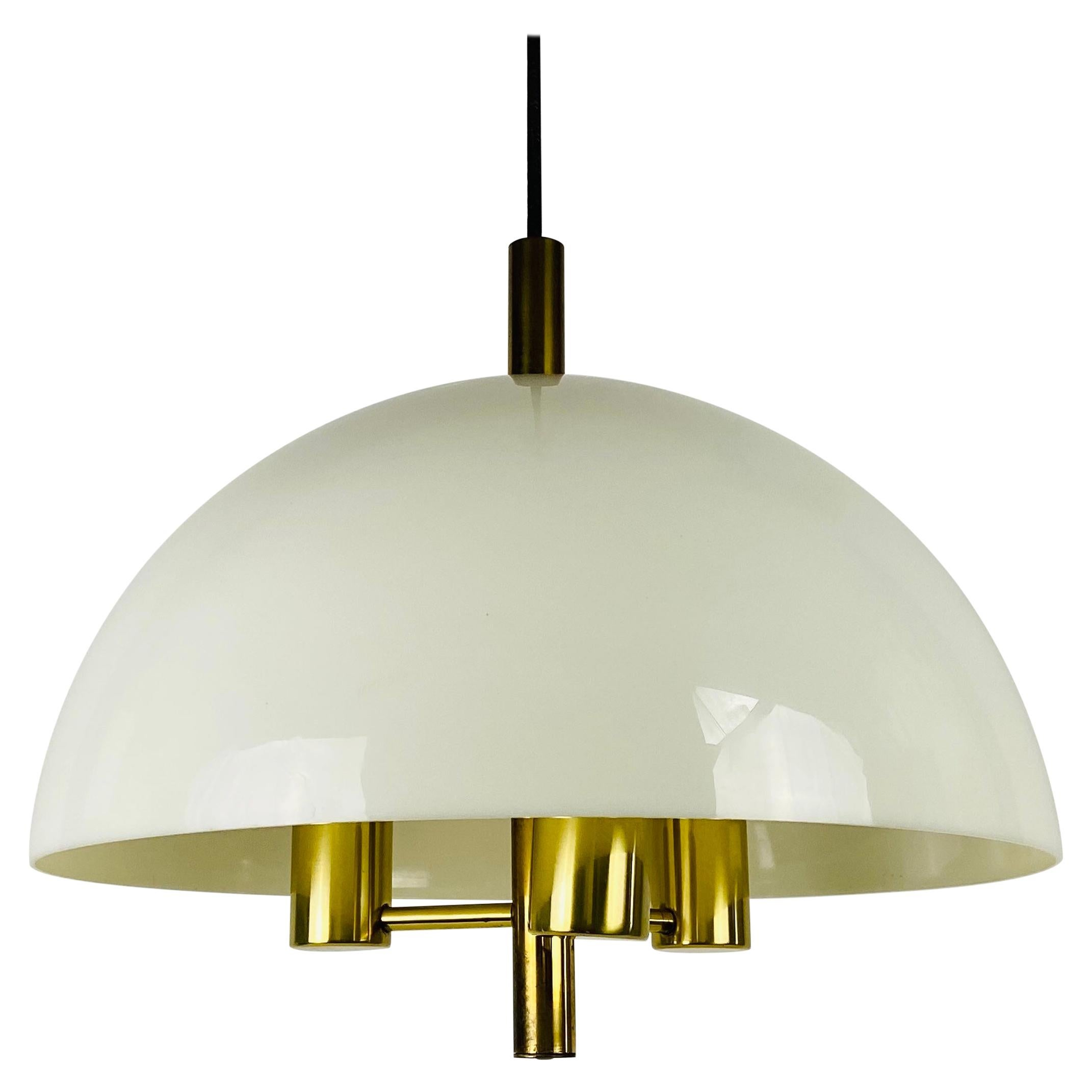 Midcentury Plexiglass Pendant Lamp, 1960s