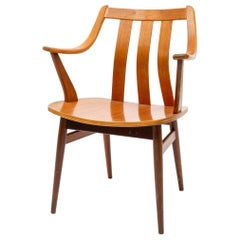 Midcentury Plywood Beech Chair, 1960s