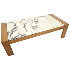 Midcentury Poggibonsi Marble Coffee Table, Italy, 1960s