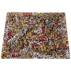 Midcentury Pop Art Keith Haring Serving Tray after design Café des Arts, 1990s