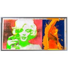 Marilyn Monroe Trip 1 & 2 Print by Bert Stern, 1968, Midcentury Pop Art, neon
