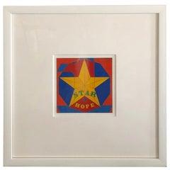 Midcentury Pop Robert Indiana Signed & Dated Enamel on Metal, Star of Hope, 1972