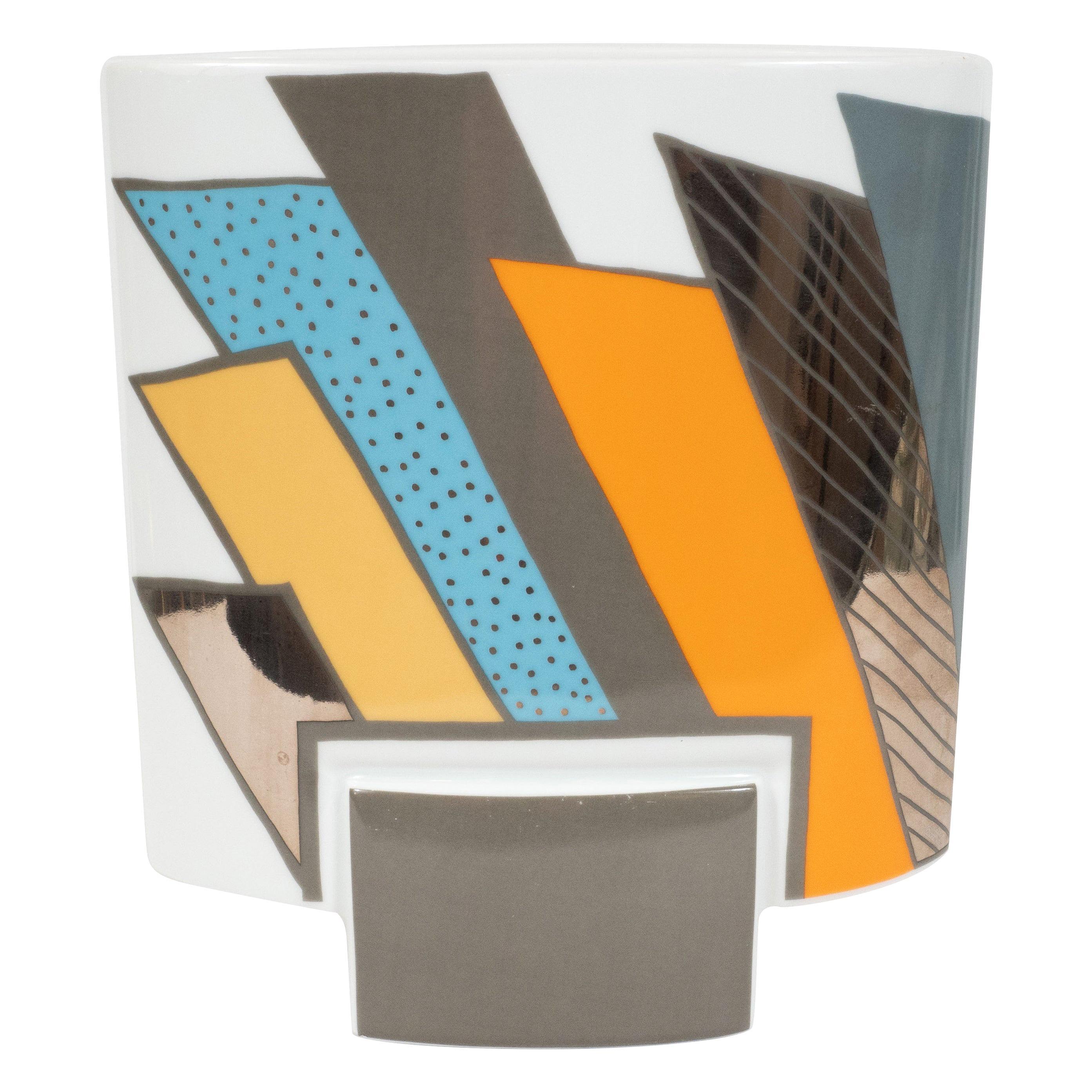 Midcentury Porcelain Vase by Michael Boehm & Rosemonde Nairac for Rosenthal