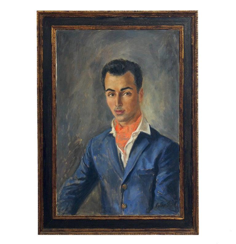 Midcentury Portrait of a Dapper Dandy by Peter Sheil For Sale