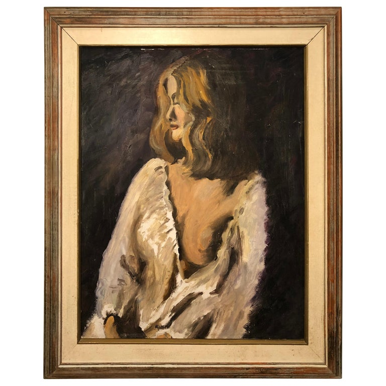 Midcentury Portrait of a Woman For Sale